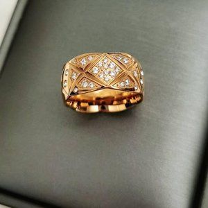Chanel Like Coco Crush Large Rose Gold Ring Size 6